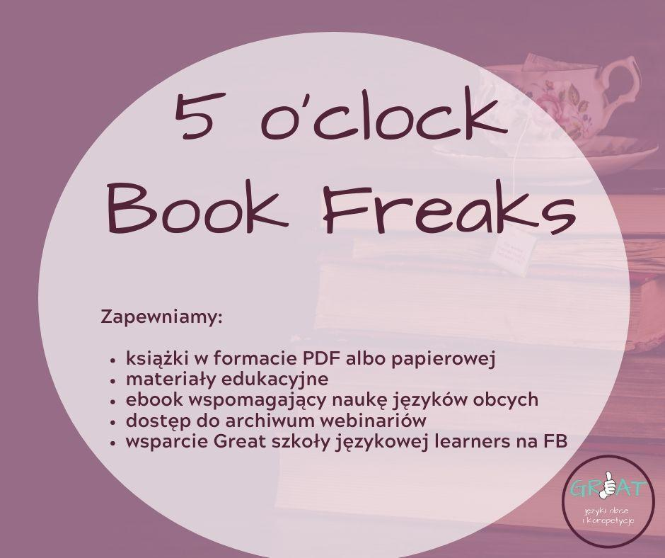 Plakat 5 o'clock book freaks